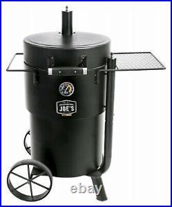 19202089 Oklahoma Joe's Bronco Barrel Drum Smoker, Porcelain-Coated Steel