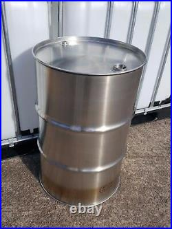 205 Litre 45 Gallon New Stainless Steel Barrel BBQ Drum Tank Twin Bung Storage