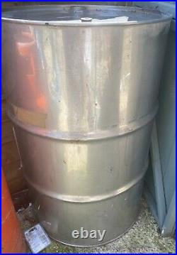 205 Litre 45 Gallon New Stainless Steel Barrel BBQ Drum Twin Bung Storage