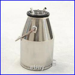 25L Sheep Goat Milker Milking Machine Bucket Barrel Tank 304 Stainless Steel