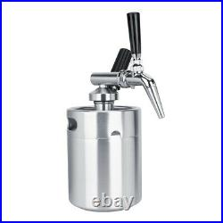 2L Stainless Steel Nitrogen Keg Coffee Barrel Home Brew Coffee System Kit Acc HG