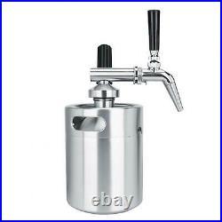 2L Stainless Steel Nitrogen Keg Coffee Barrel Home Brew Coffee System Kit Acc UK