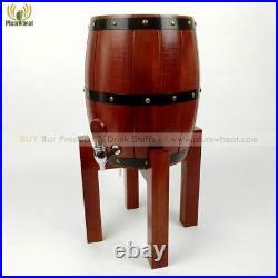 3 Litres OAK Wooden Upright Beer, Wine, Spirits Barrel