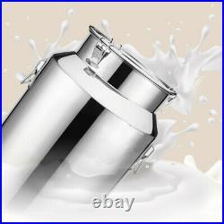 58L Stainless Steel Milk Can Wine Pail Bucket Tote Jug Oil Barrel Tea