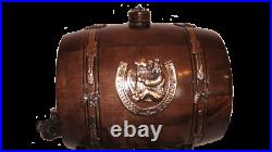 5L New Wooden Barrel with mugs Birch 1gal Stainless steel Wine Whiskey Rum Cogna