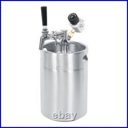 5L Stainless Steel Beer Barrel Set Beer Keg Adjustable Tap Spear 2 Class Constan