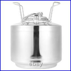 6L Stainless Steel Beer Barrel Cola Beverage Keg Beer Craft Brewing for Storage