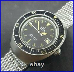 70s Omega Seamaster 200m/660ft Baby 1000m Barrel Case Men Divers ST166.091