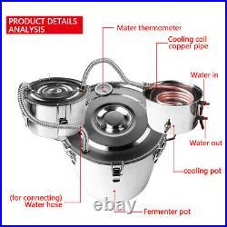 8 Gallon 30L Home Brew Wine Making Fermenter Barrel Stainless Steel Water Boiler