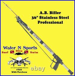 AB Biller Stainless Steel Speargun Spearfish 36 Special Spear A. B. Barrel Scuba