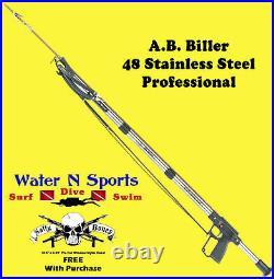 AB Biller Stainless Steel Speargun Spearfish 48 Special Spear A. B. Barrel Scuba
