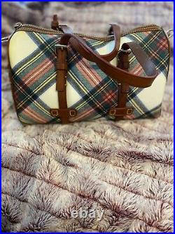 Authentic Rare New Without Tags -Dooney & Bourke Barrel Satchel Tartan Plaid