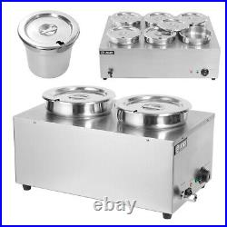 Bain Marie 3/5GN Pan Container Food Warmer Commercial Wet Soup Sauce Heat Barrel