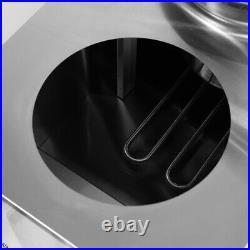 Bain Marie Soup Food Warmer Barrel Holder 1500W 4 Large Round Pots +Drain Device