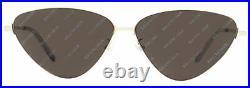 Balenciaga Cateye Sunglasses BB0015S 004 Silver/Clear 61mm 0015