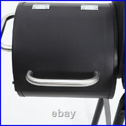 Barbecue Steel Charcoal Grill BBQ Outdoor Patio Garden Barrel Trolley with Wheels