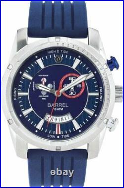 Barrel BA 4008 01 Slick Tide indicator 45mm Blue Dial Mens Watch