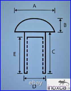 Barrel Nuts Button Head Torx Pin 6 Lobe Anti-tamper Metric A2 Stainless Steel