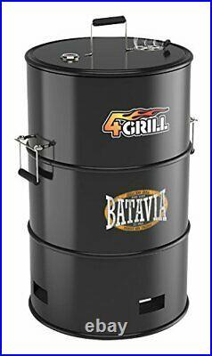 Batavia 4-in-1 Barrel Grill BBQ In Black