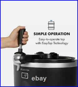 Beer Tap Dispenser Keg Home brew Cooler 5l/13l Barrel CO2 Stainless Steel Black