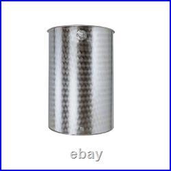 Belvivere barrel 100 lt in stainless steel food tank wine oil with cap