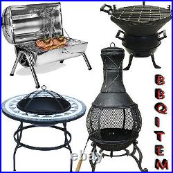 Black BBQ Barbecue Outdoor Garden Charcoal Barbecue Patio Party Cooking Large
