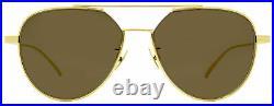 Bottega Veneta Aviator Sunglasses BV1013SK 003 Gold 57mm 1013