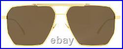 Bottega Veneta Square Sunglasses BV1012S 003 Gold 60mm 1012