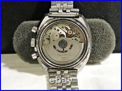 Bucherer 44mm Chronograph Lemania 1340 Diver Barrel Case PANDA TROPICAL DIAL1970