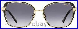 Chopard Butterfly Sunglasses SCHB69S 301F Gold/Black Enamel 57mm B69