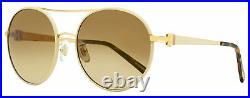 Chopard Round Sunglasses SCHB68S 2AMG Tan/Gold 57mm B68