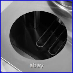 Commercial Catering Barrel Bain Marie 2 Pots Wet Soup Warmer Electric Container