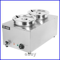 Commercial Heat Bain Marie Electric Soup Sauce Food Barrel Warmer with 2/6 Pots