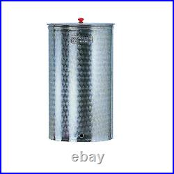 Cordivari stainless steel barrel 150 lt food wine oil tank without tap and cap