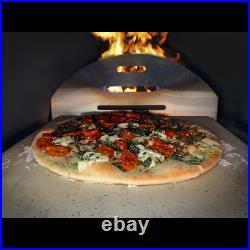 Dellonda 14 Wood-Fired Pizza Oven 350 380°C, Meat Smoking, Black, Portable