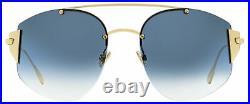 Dior Oval Sunglasses Stronger 000NE Gold 58mm