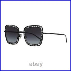 Dolce & Gabbana Square/Butterfly Sunglasses DG2225 018G Black 52mm 2225