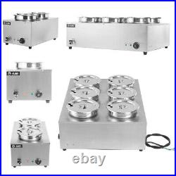 Electric Bain Marie Round Pot Catering Soup Sauce Commercial Food Barrel Warmer