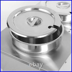 Electric Barrel Warmer 18L Soup Food Buffet Heater Sauce Warmer + 2pcs Deep Pots