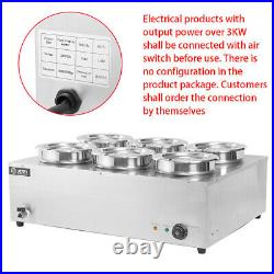 Electric Commercial Catering Kitchen Soup Barrel 2/6 Round Pot Sauce Food Warmer