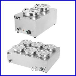 Electric Commercial Food Sauce Warmer Barrel Stainless Steel Heat Kitchen 2/6 RD