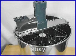Electric Honey Extractor Separator 4 Frames Stainless Steel Barrel steel B1388