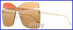Fendi Butterfly Sunglasses FF0399S G63HA Gold 99mm 0399