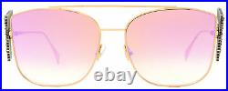 Fendi Embellished Sunglasses FF0380GS DDBVQ Copper/Gold 62mm 0380