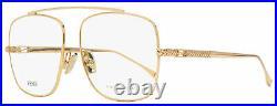 Fendi Square Eyeglasses FF0445 DDB Copper-Gold 57mm 445