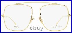 Fendi Square Eyeglasses FF0445 J5G Gold 57mm 445