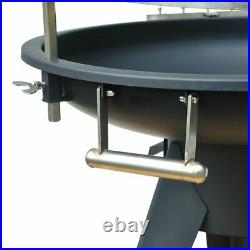 Garden Barrel Charcoal BBQ 104cm Outdoor Cooking Barbecue Home Stable Grill NEW