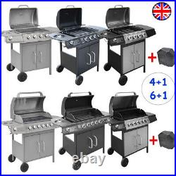 Gas BBQ Grill 4 + 1 Stainless Steel Burner Garden Yard Barbecue Cooker Outdoor