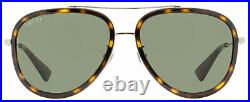 Gucci Aviator Sunglasses GG0062S 002 Ruthenium/Havana 57mm 0062