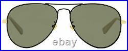 Gucci Pilot Sunglasses GG0515S 001 Black/Gold/Ivory 60mm 0515